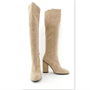 New STUART WEITZMAN Buff Suede Knee High Boots 8